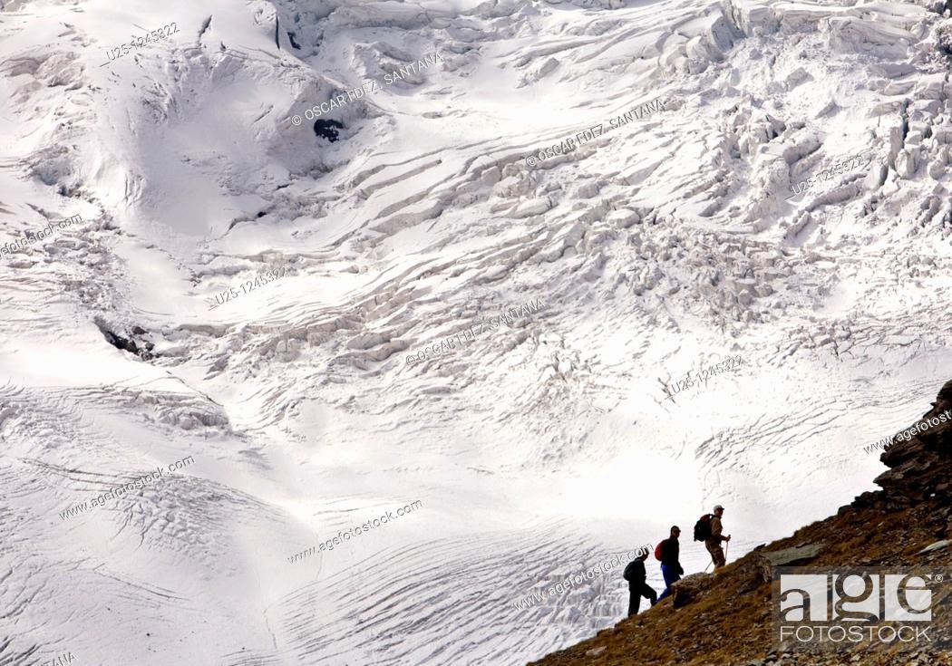 Stock Photo: Switzerland  Valais  Zermatt  Gornergrat.