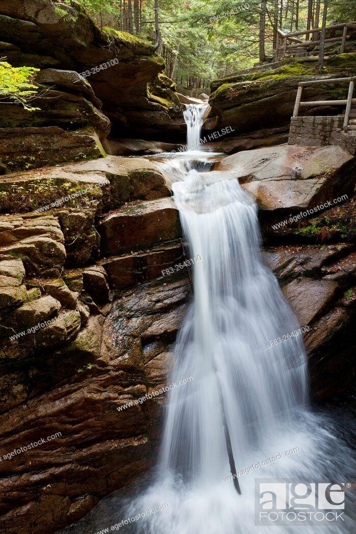 Stock Photo: Sabbaday Falls, White Mountain National Forest, Grafton County, New Hampshire, USA.