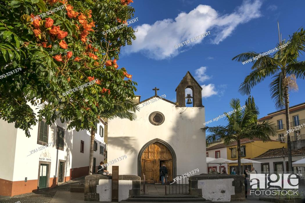 Stock Photo: Capela Do Corpo Santo at the old part of town, Funchal, Madeira, Portugal, Europe.