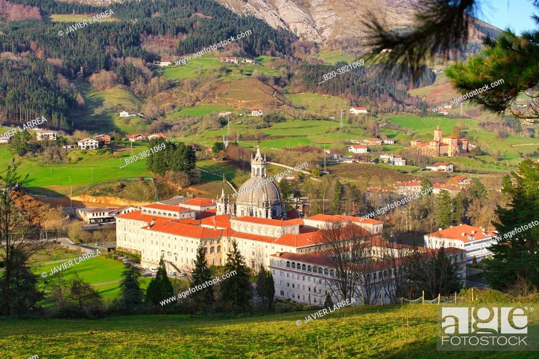 Photo de stock: San Ignacio de Loyola Sanctuary, Ignatian Way, Azpeitia, Gipuzkoa, Basque Country, Spain, Europe.