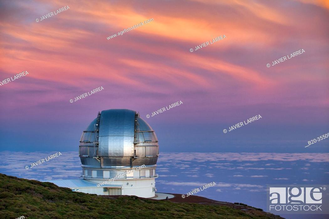 Imagen: The Gran Telescopio CANARIAS (GTC), Roque de los Muchachos Observatory, Caldera de Taburiente National Park, La Palma, Canary Islands, Spain.