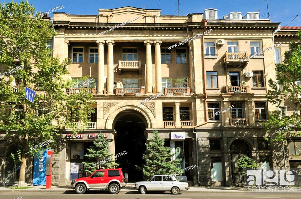Stock Photo: historic building at downtown Yerevan, Jerewan, Armenia, Asia.