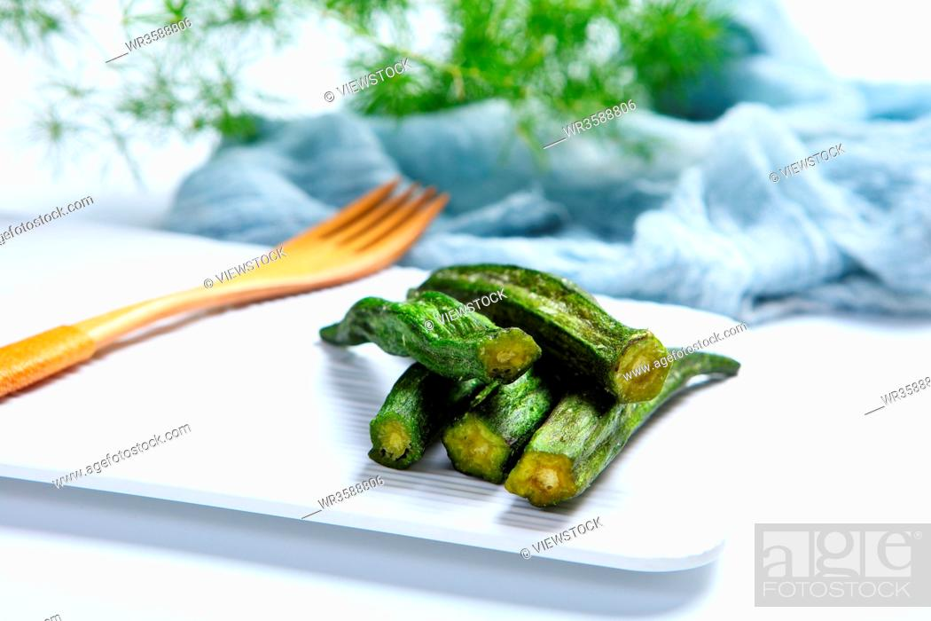 Stock Photo: A small amount of vegetables, okra.