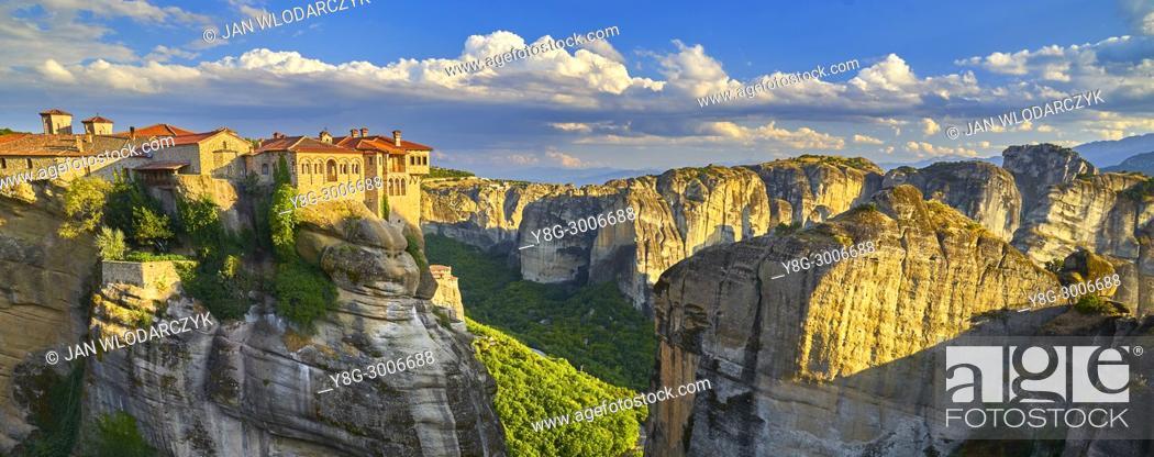 Stock Photo: Monastery at Meteora, Greece.