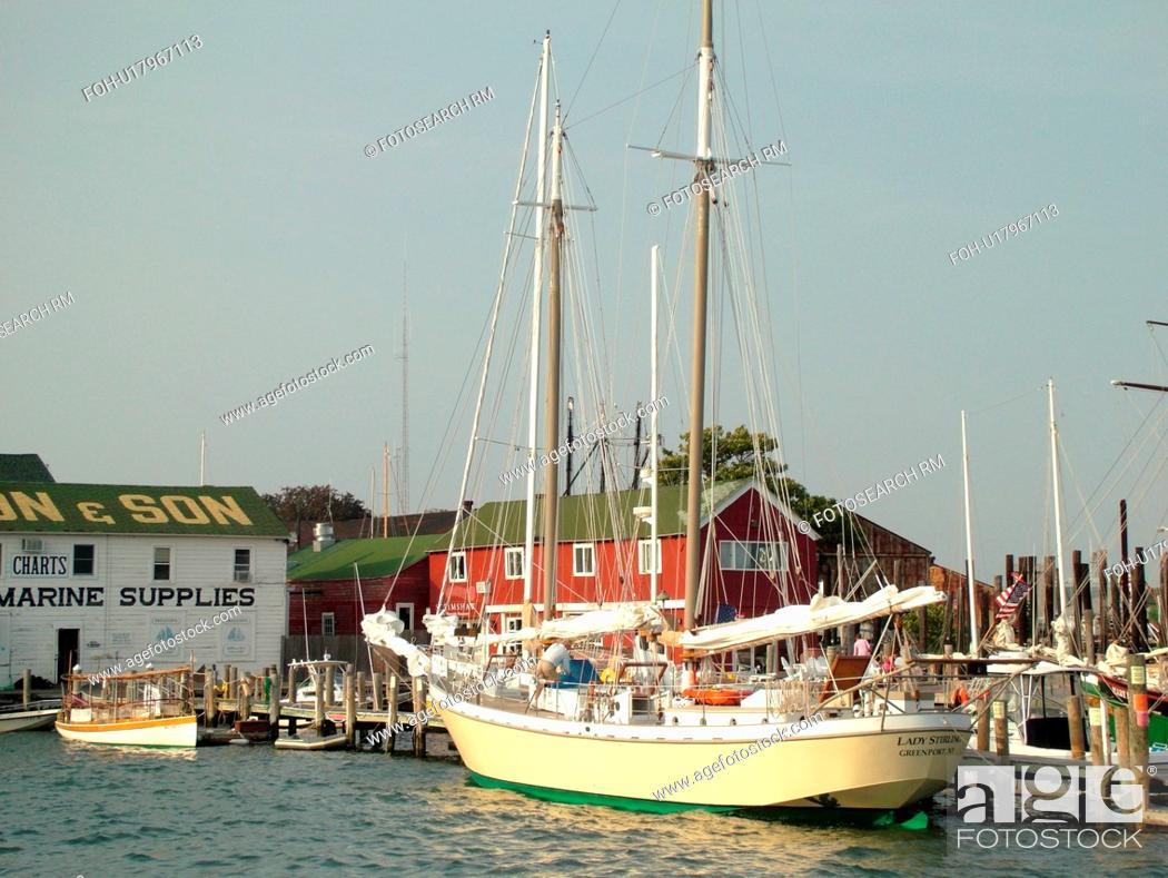Greenport Ny Long Island New York Atlantic Ocean Harbor Marina