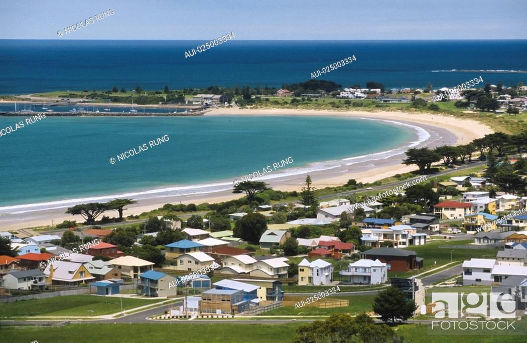Stock Photo: Victoria - Great Road Ocean - Apollo Bay.