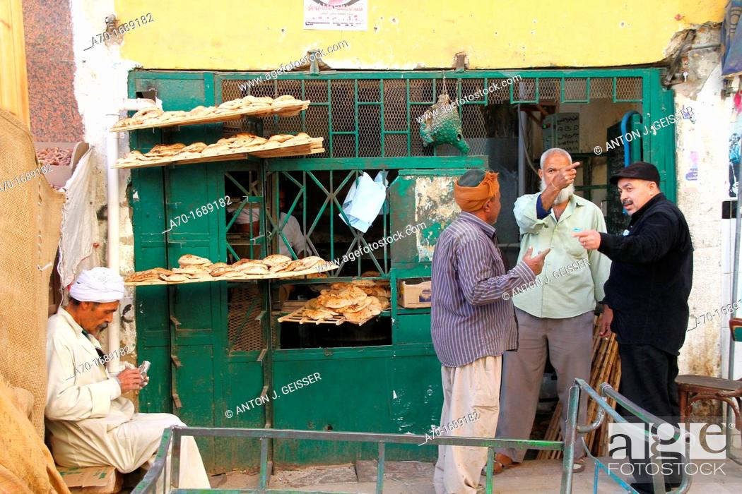 Stock Photo: Fresh baked pita bread , egyptian.