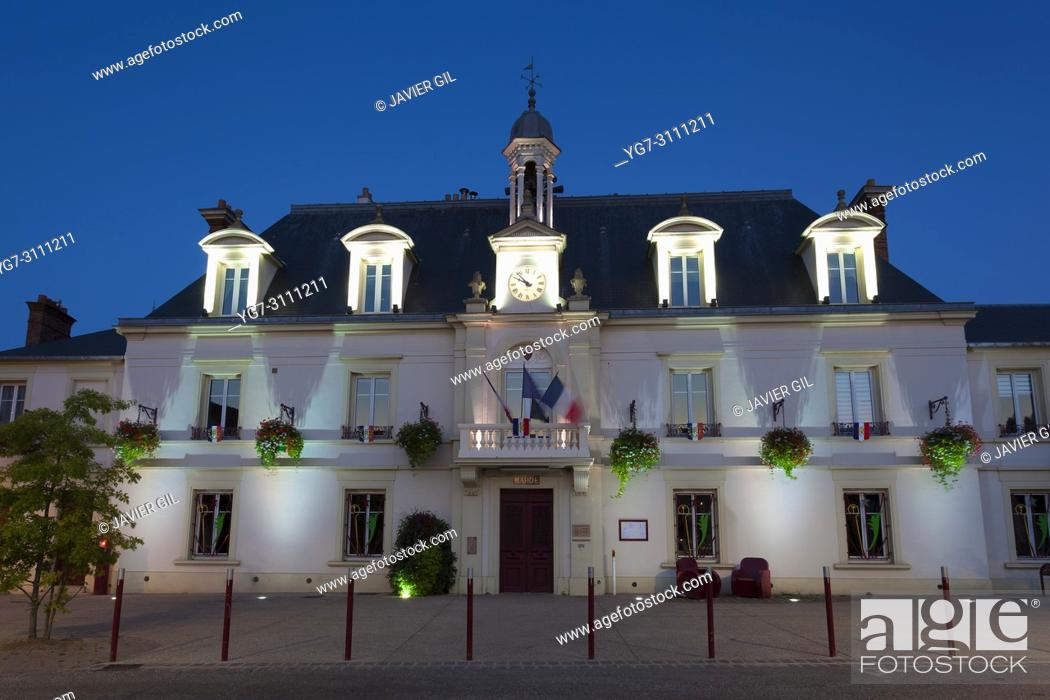 Stock Photo: City council of Linas, Essonne, France.