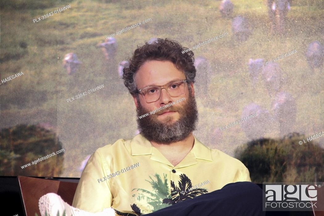 """Stock Photo: Seth Rogen 07/10/2019 """"""""The Lion King"""""""" Press Conference held at the Montage Beverly Hills Luxury Hotel in Beverly Hills, CA. Photo by I."""