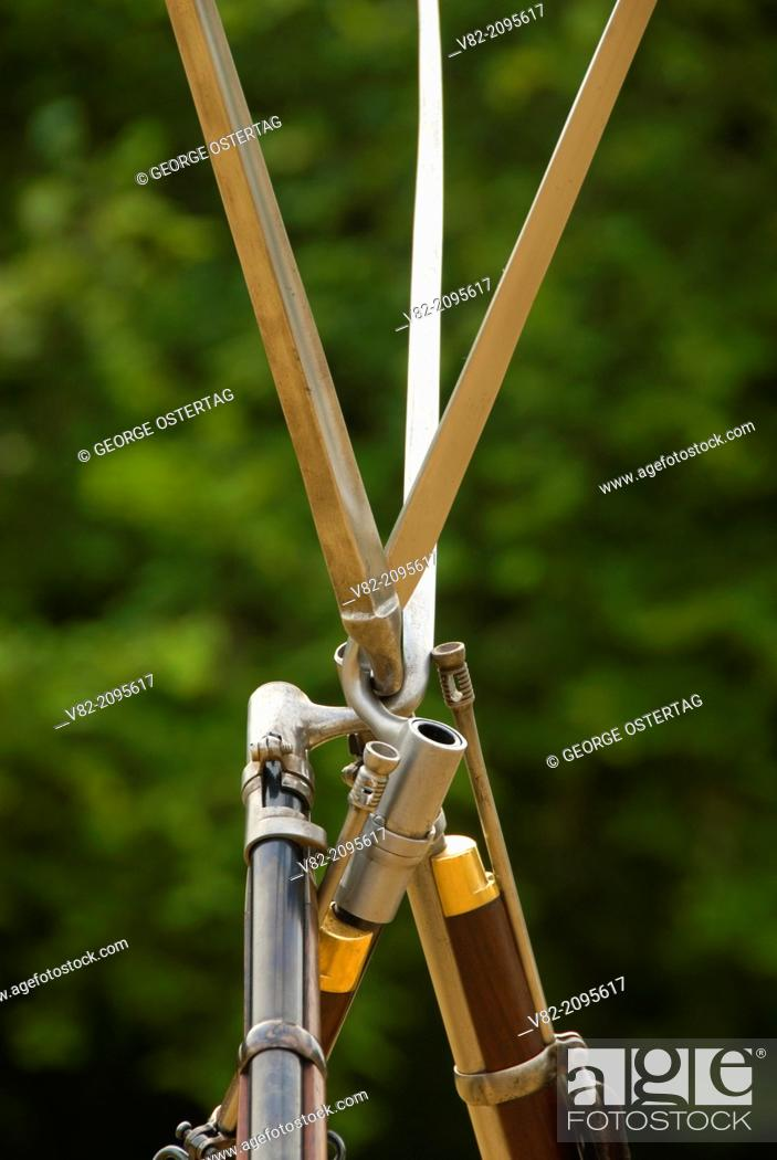 Stock Photo: Rifles with bayonets, Civil War Re-enactment, Willamette Mission State Park, Oregon.