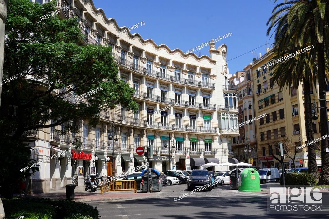Stock Photo: Casa Chapa. City of Valencia, Comunidad Valenciana, Spain, Europe.