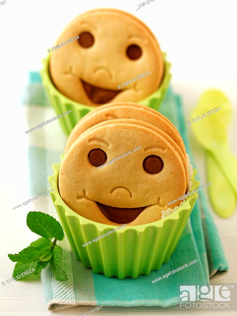 Stock Photo: Smiling cookies,.