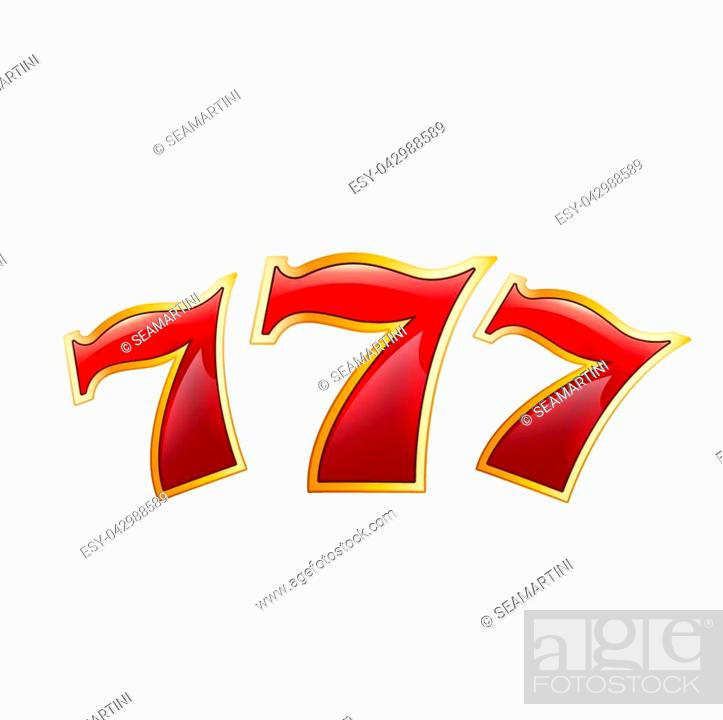 Casino Poker Jackpot Lucky 7 Seven Numbers Icon Vector Isolated Symbol Of Luck Numbers For Casino Stock Vector Vector And Low Budget Royalty Free Image Pic Esy 042988589 Agefotostock
