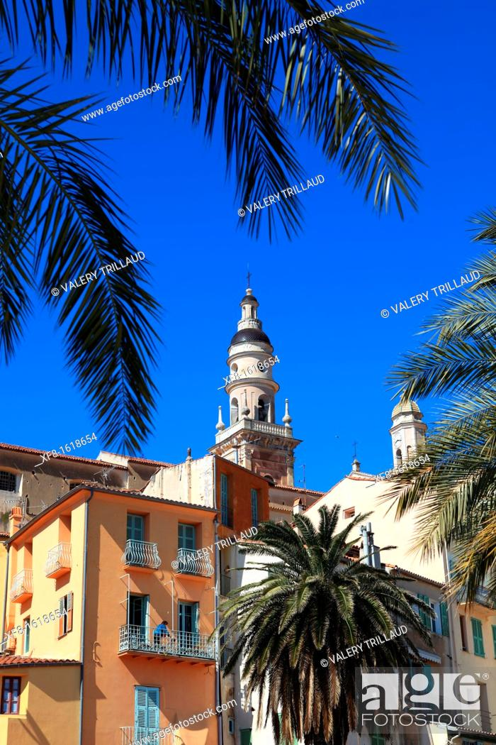 Stock Photo: Menton, Alpes-Maritimes, French Riviera, Provence-Alpes-Côte d'Azur, France, Europe.