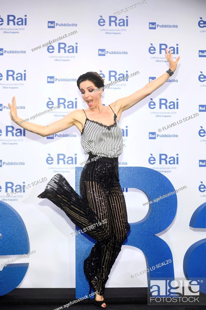 Stock Photo: Andrea Delogu during the Rai programming launch in Milan, ITALY-09-07-2019.