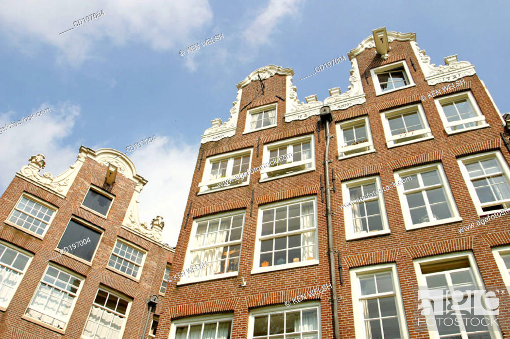 Stock Photo: Architecture in the Begijnhof. Amsterdam. Holland.