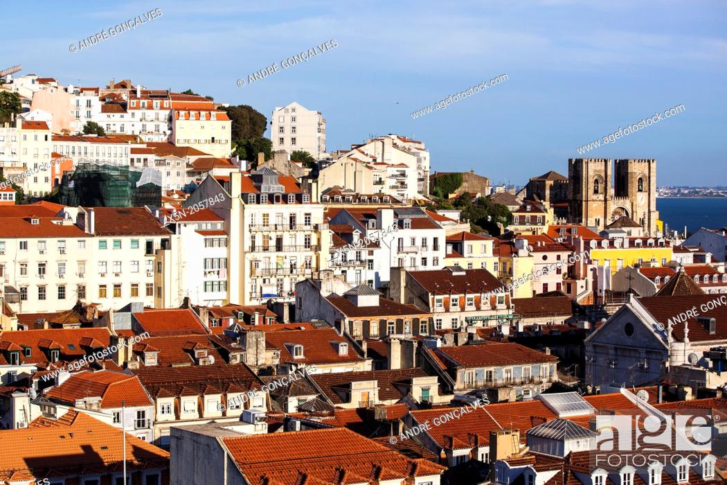Stock Photo: Cathedral, Lisbon, Portugal, Europe.