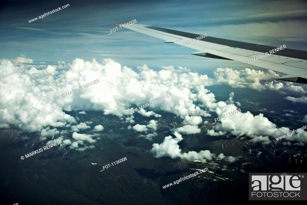 Stock Photo: The view of Kamchatka, Petropavlovsk Kamchatsky, Russia from an airplane.