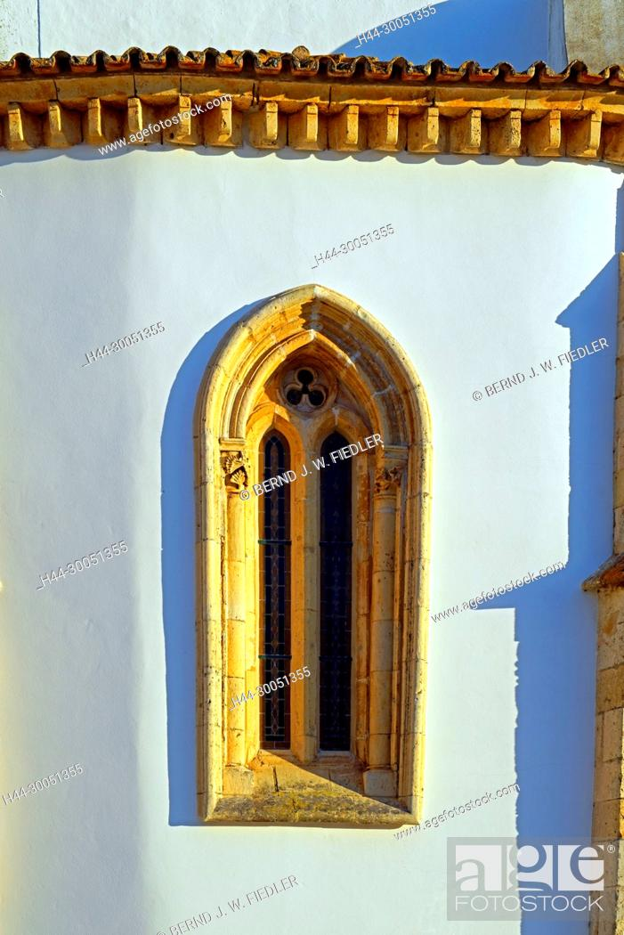 Stock Photo: Sé Catedral de Faro, Igreja de Santa Maria, church window, Faro Portugal,.