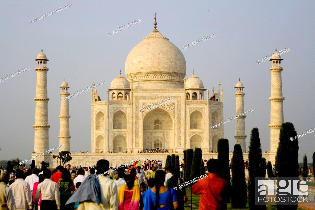 Stock Photo: Taj Mahal ; Agra ; Uttar Pradesh ; India.