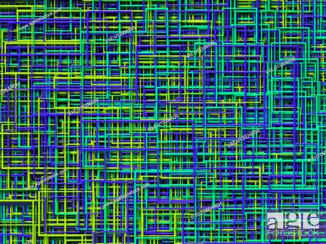 Stock Photo: Multi-Colored Lines.