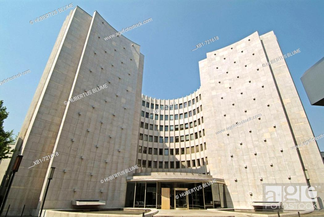 Stock Photo: Headquarters of Gerling Enterprises, Entrance, Cologne, Rhineland, North Rhine-Westphalia, Germany.