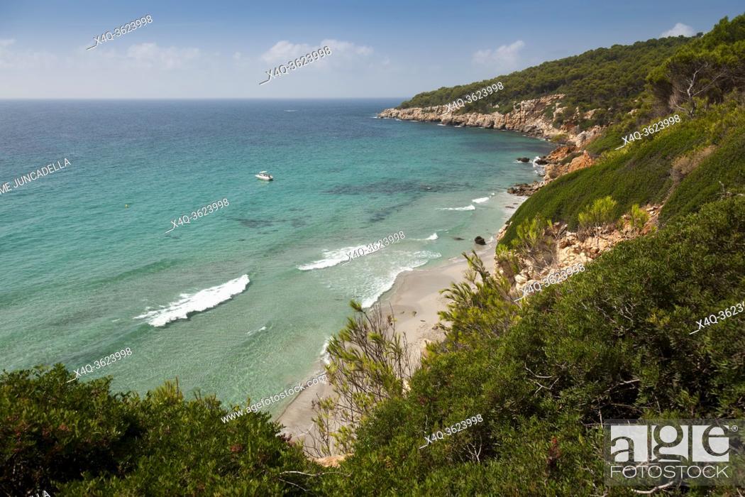 Stock Photo: Mediterranean in Menorca Island.