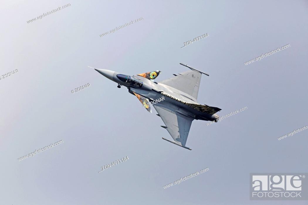 Kampfflugzeug vom Typ Saab JAS 39 Gripen der tschechischen