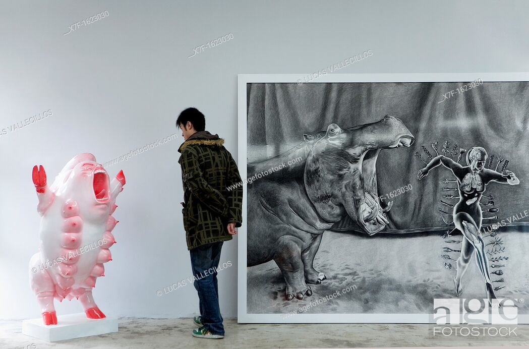 Stock Photo: Mook gallery  Nº4 Jiuxianqiao road, in Dashanzi 798 Art District, Beijing, China.