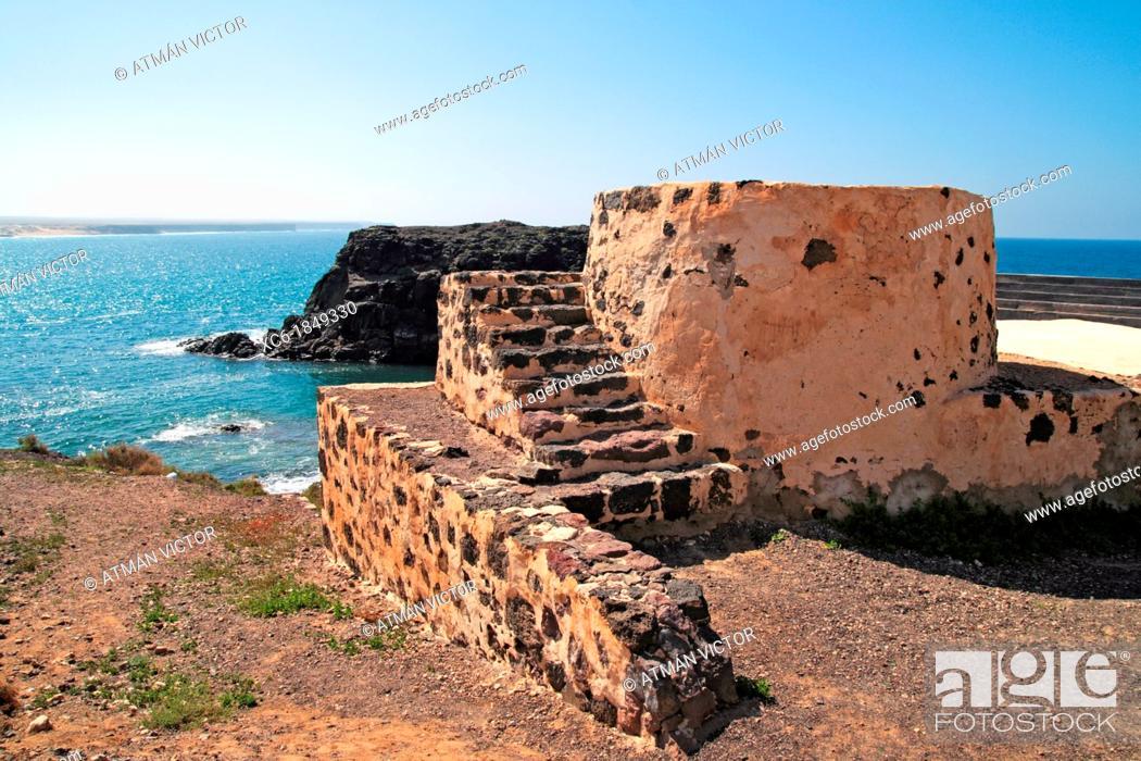 Stock Photo: Lime Kiln in Cotillo Fuerteventura.