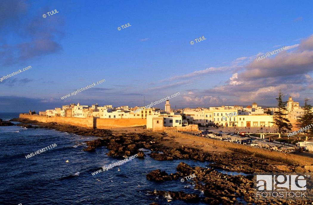 Stock Photo: Morocco, Essaouira, general view of the medina, listed as World Heritage by UNESCO.