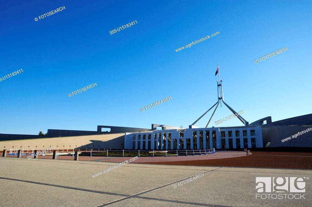 Stock Photo: Parliament Building, Canberra, Australia.