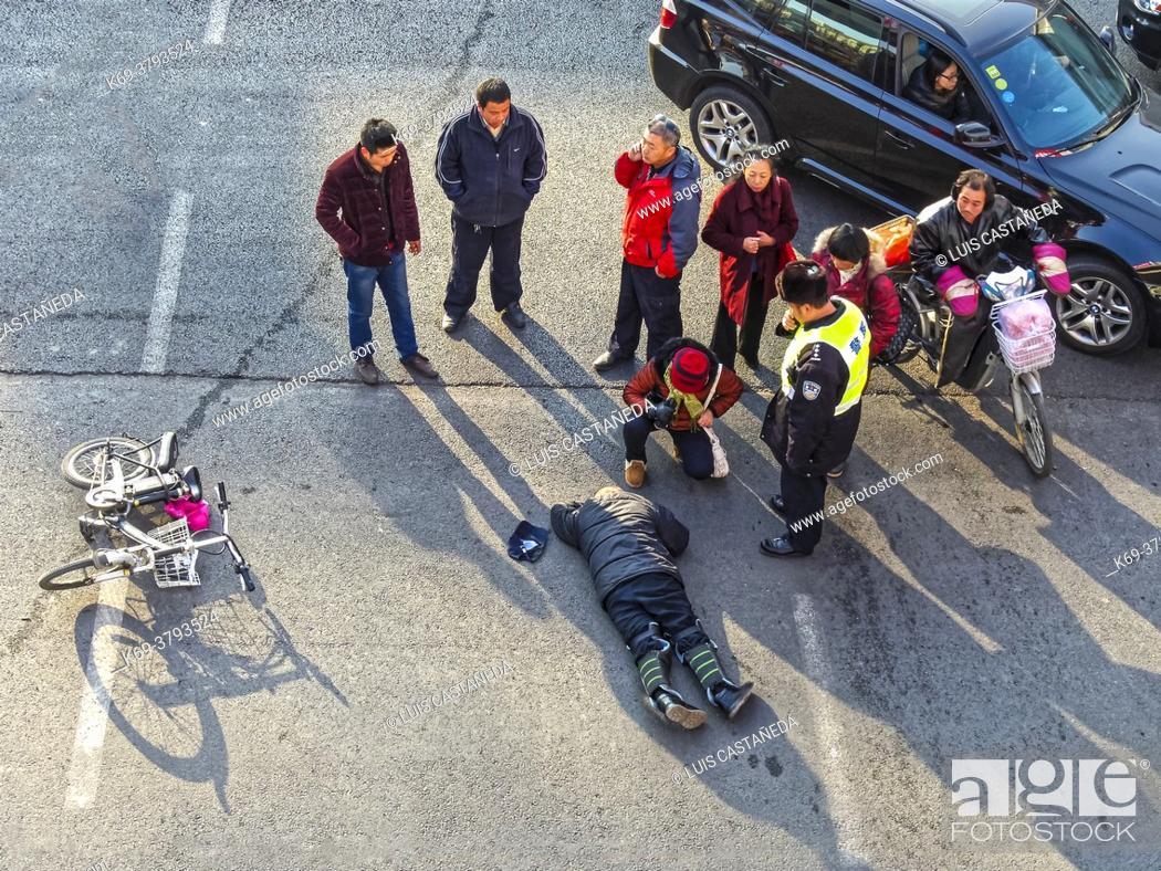 Stock Photo: Traffic Accident. Beijing. China.