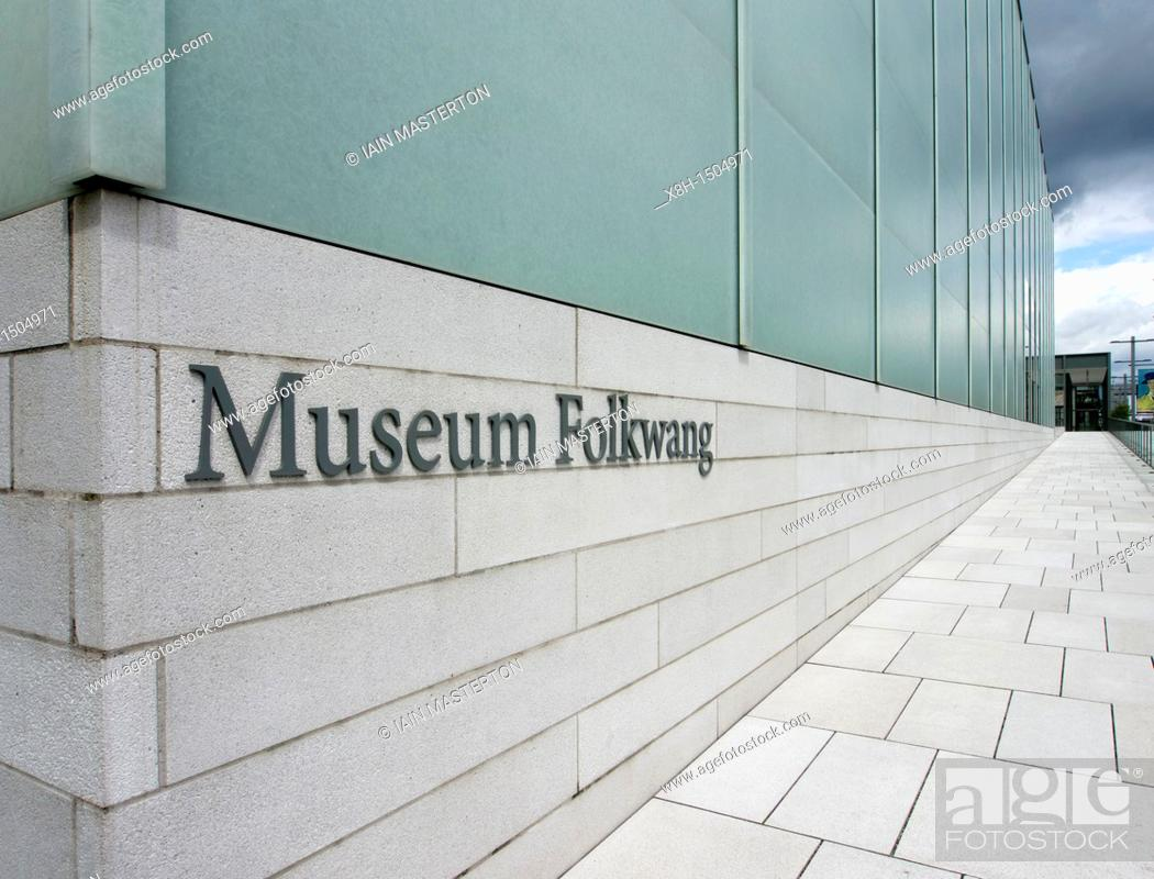 Imagen: New building at Folkwang Museum in Essen Germany designed by David Chipperfield architect.