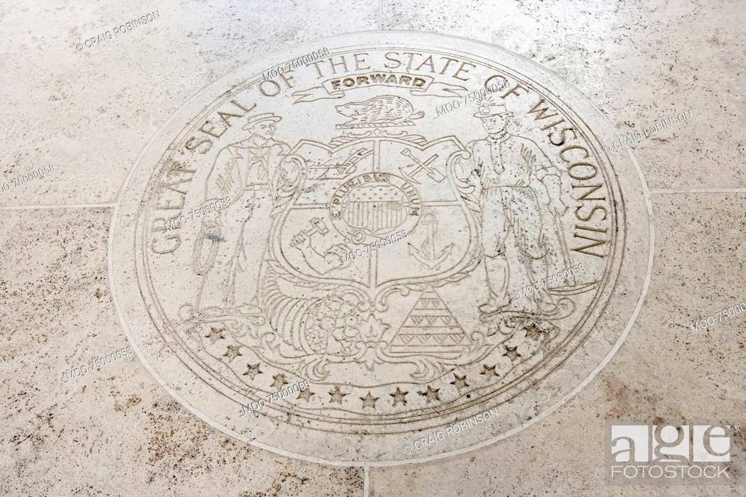 Stock Photo: Great Seal of the State of Wisconsin in Fort Bonifacio, Manila, Philippines.