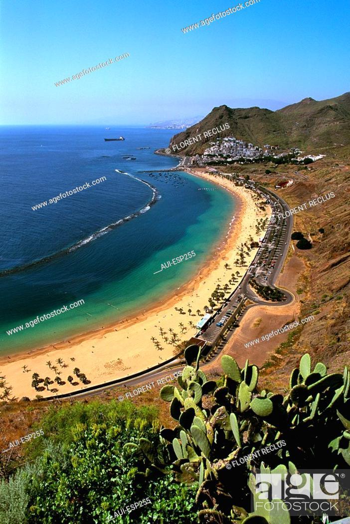 Stock Photo: Spain - Canary Islands - Tenerife - Playa las Teresitas.