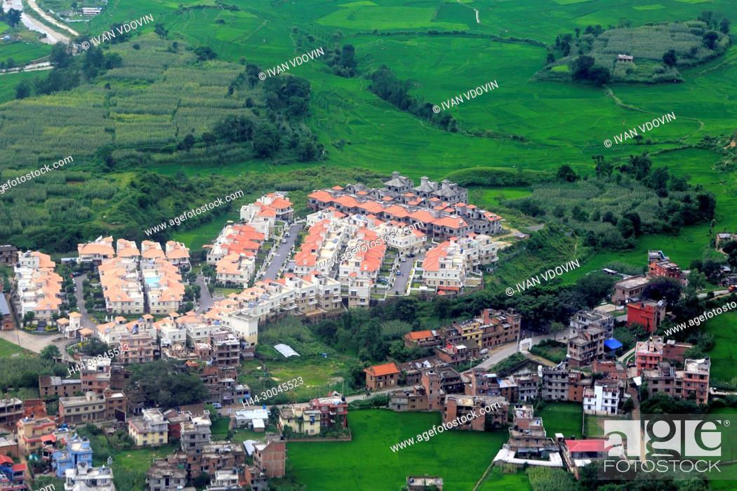 Imagen: Aerial view of Kathmandu valley, Nepal.