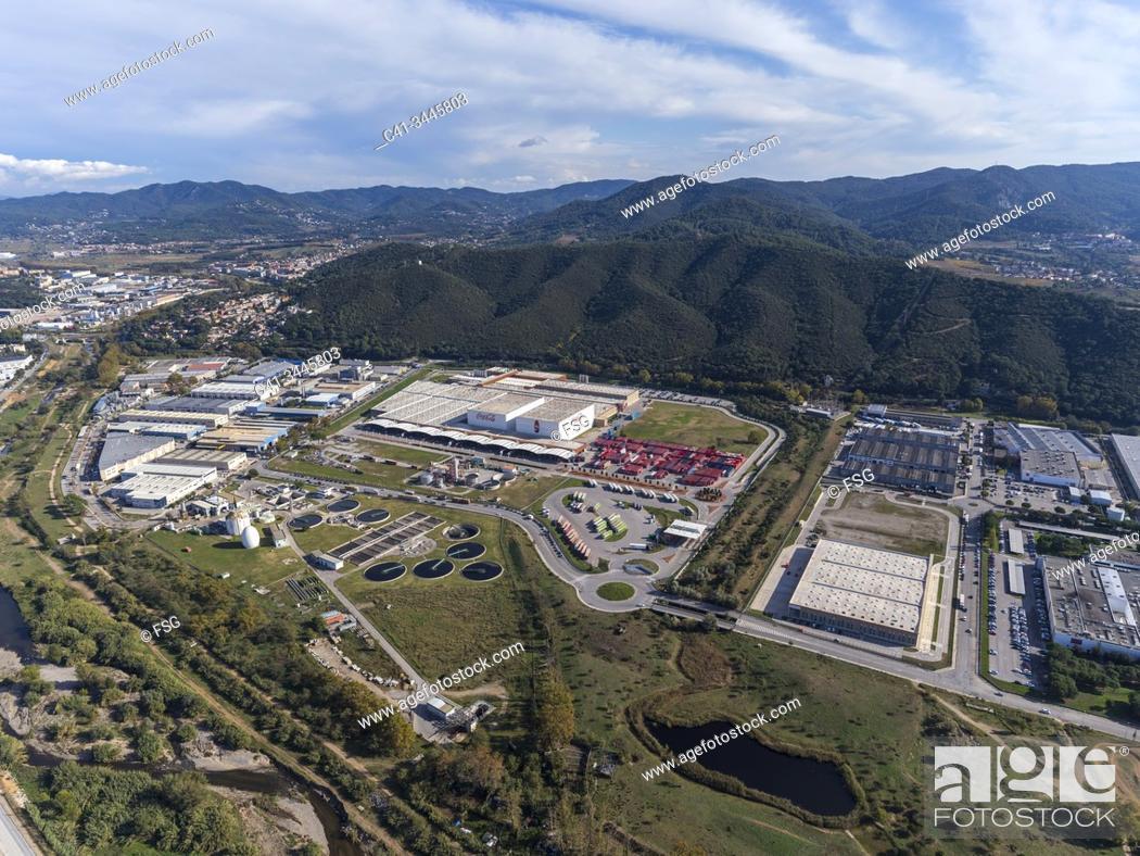 Stock Photo: Industrial area of Can Bosquerons. Mollet del Vallès. Barcelona, Spain.