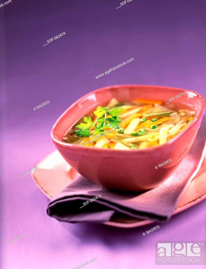 Stock Photo: vegetable soup.