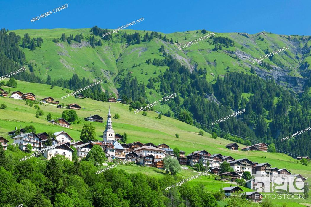 Stock Photo: France, Savoie, Beaufortain region, Hauteluce.