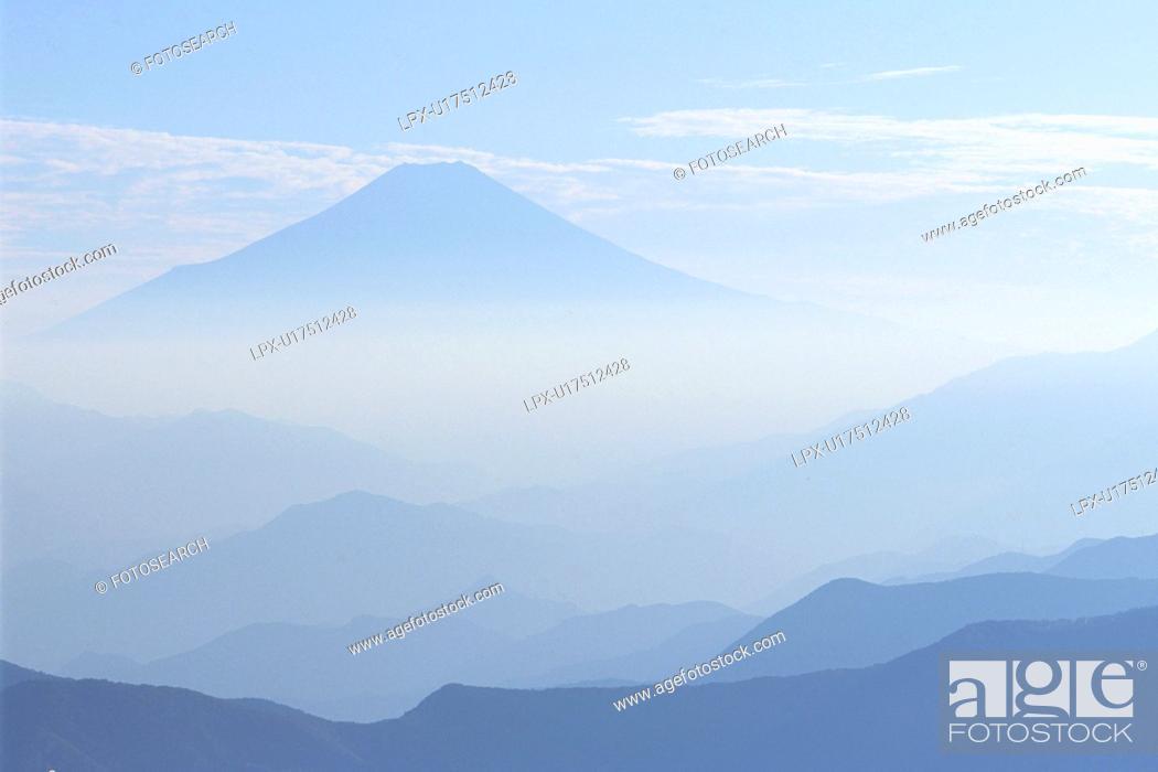 Stock Photo: Mt. Fuji, Tokyo Prefecture, Honshu, Japan.