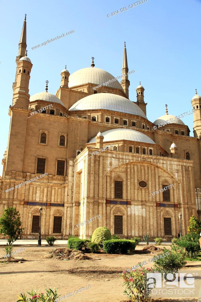 Stock Photo: Mohamed Ali Mosque Citadel of Saladin Cairo Egypt.