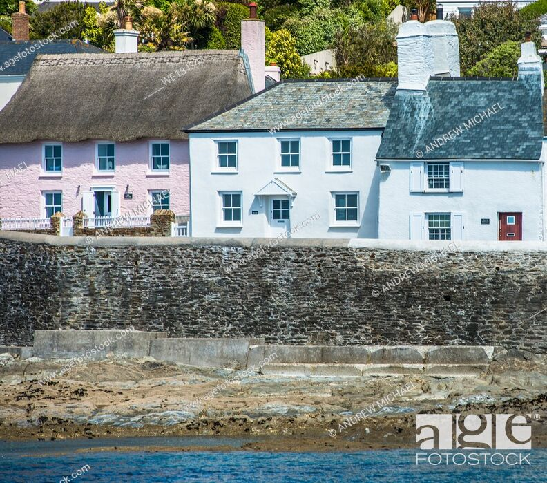 Stock Photo: The picturesque village of St Mawes on the Roseland Peninsula near Falmouth in Cornwall, England, UK.