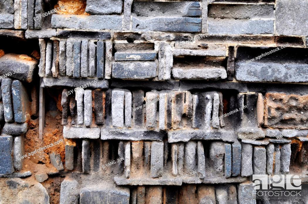 Stock Photo: Old brick wall.