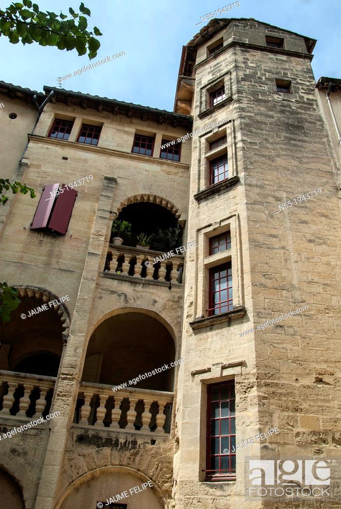 Stock Photo: Uzès, Gard, Languedoc-Roussillon, France.