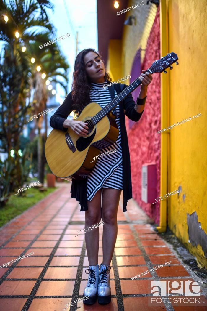 Stock Photo: La Lovo, singer-songwriter from Medellin, Colombia.