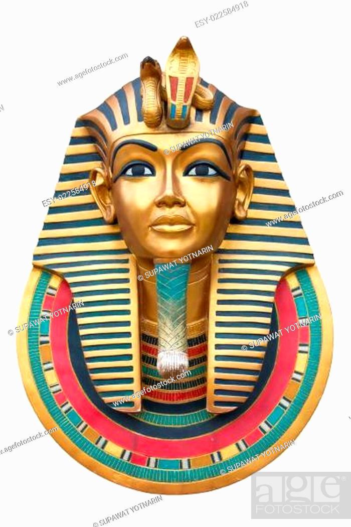 Stock Photo: Face of a Pharaoh.