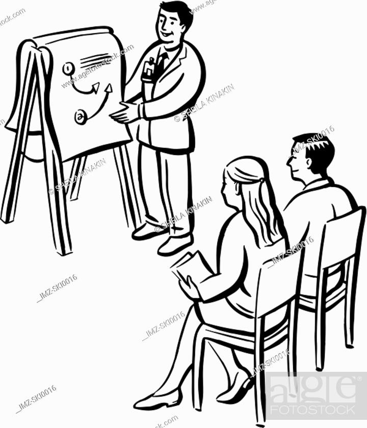 Stock Photo: A man giving a presentation.