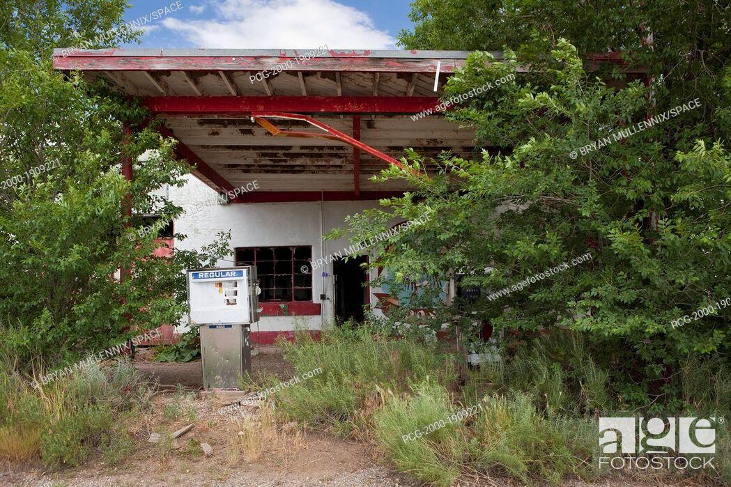 Stock Photo: Abandoned Gas Station.