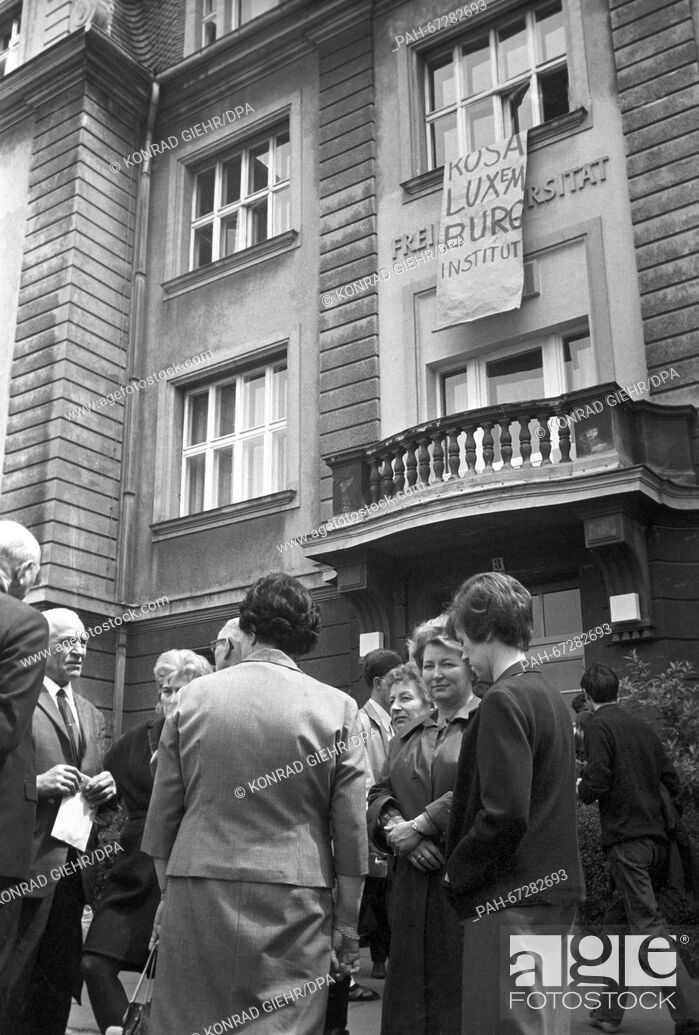 Stock Photo: Students of the FU Berlin occuped the German Seminar to protest against the Emergency Law on 27 May 1968. - Berlin/Germany.